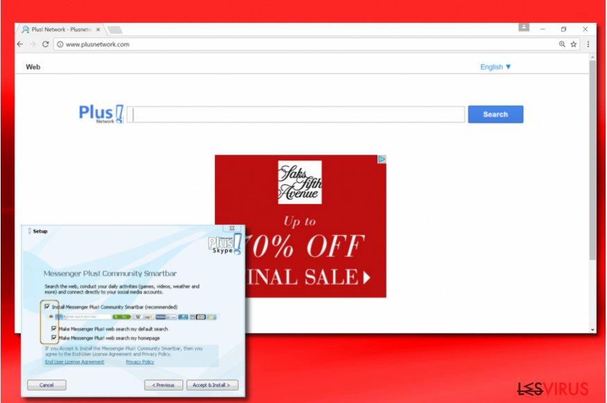 PlusNetwork.com browser hijacker