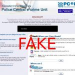 Police Central e-crime Unit virus instantané