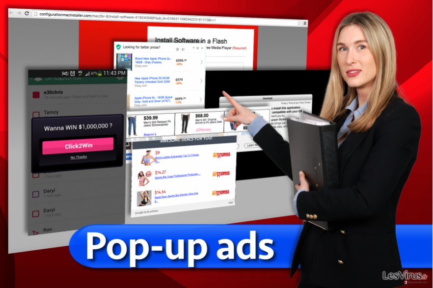 Les annonces publicitaires flash instantané