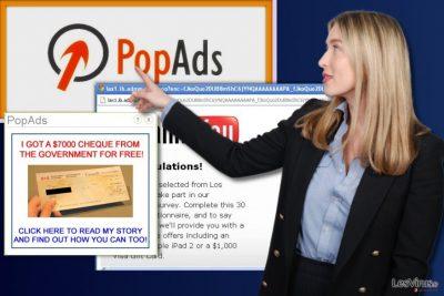 Les annonces publicitaires de PopAds