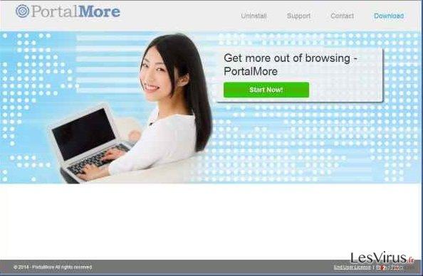 PortalMore adware instantané