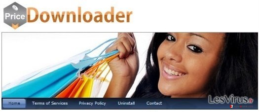 PriceDownloader adware instantané