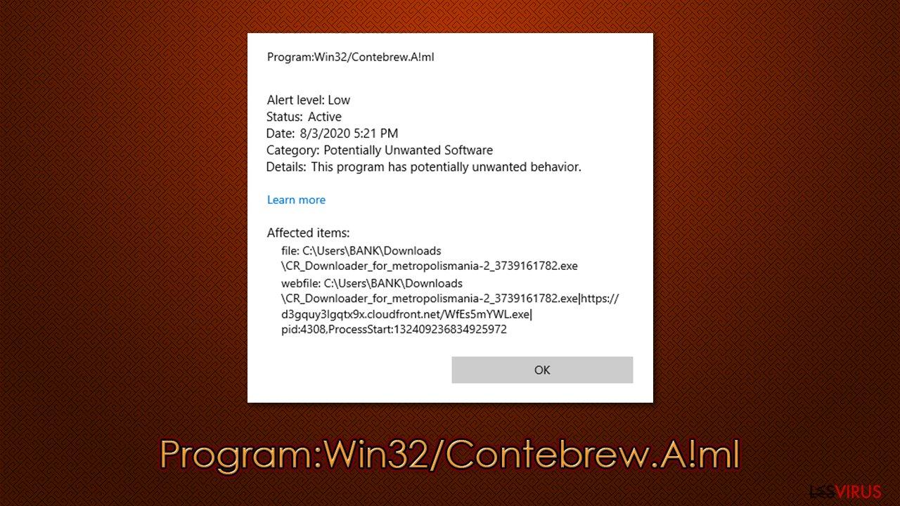 Program:Win32/Contebrew.A!ml