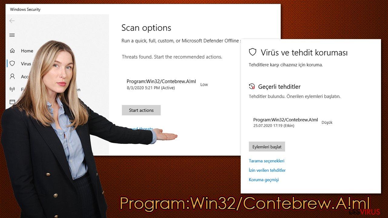 Virus Program:Win32/Contebrew.A!ml