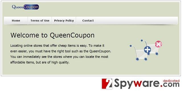 QueenCoupon adware instantané