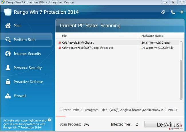Rango XP Protection 2014 instantané