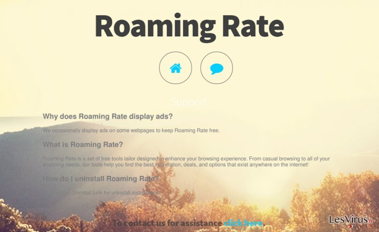 Roaming Rate annonces instantané