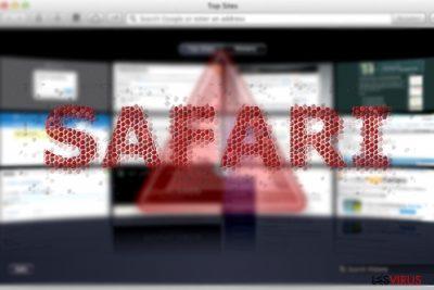 Une image représentant le virus de redirection Safari
