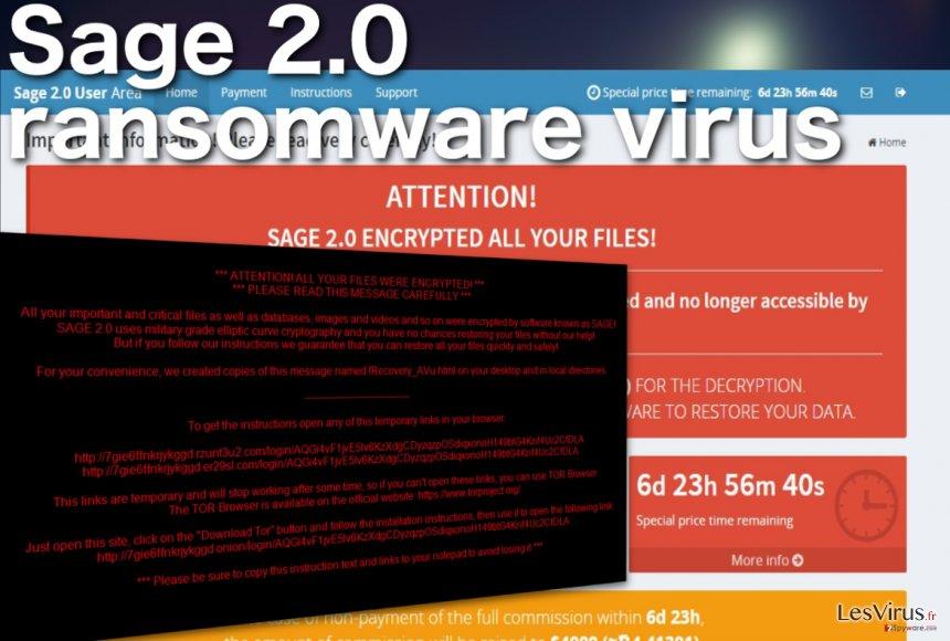 Le virus rançongiciel Sage 2.0 instantané