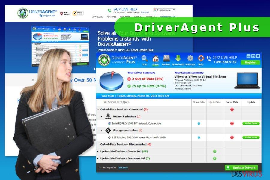 La capture d'écran de DriverAgent Plus