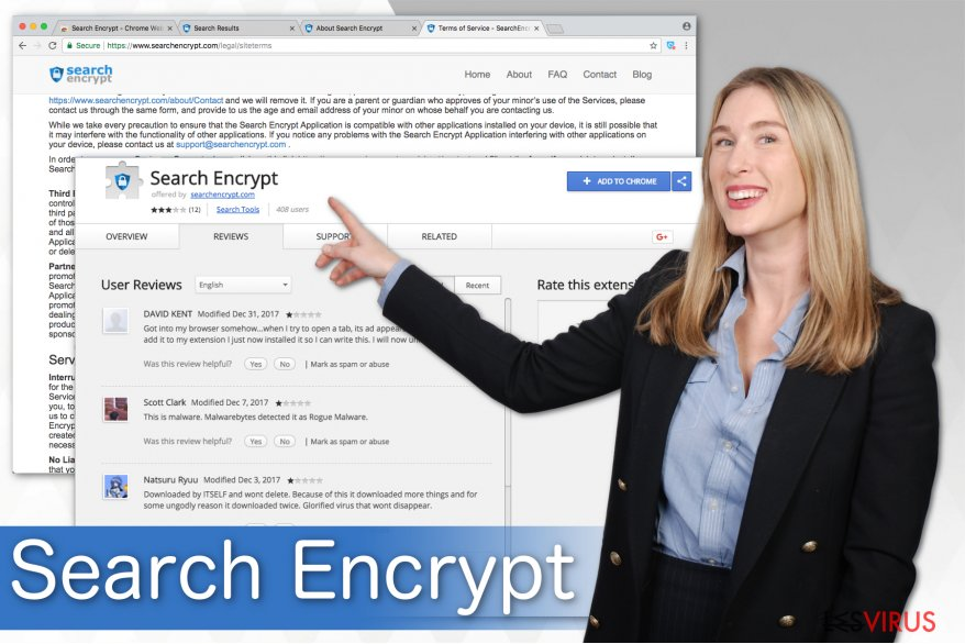 Une illustration de Search Encrypt
