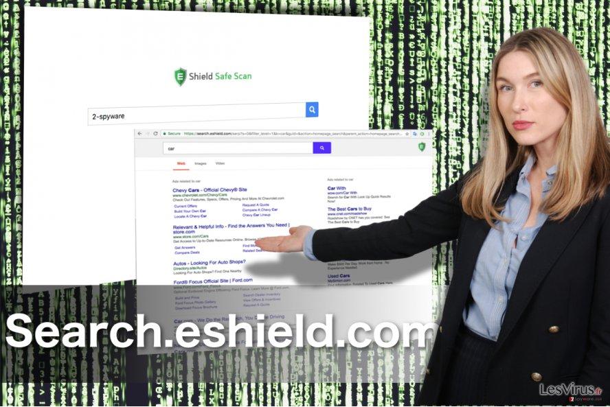 Search.eshield.com redirect instantané