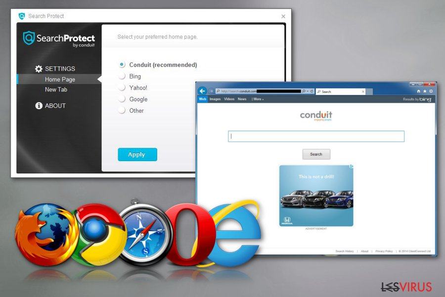 Search Protect instantané