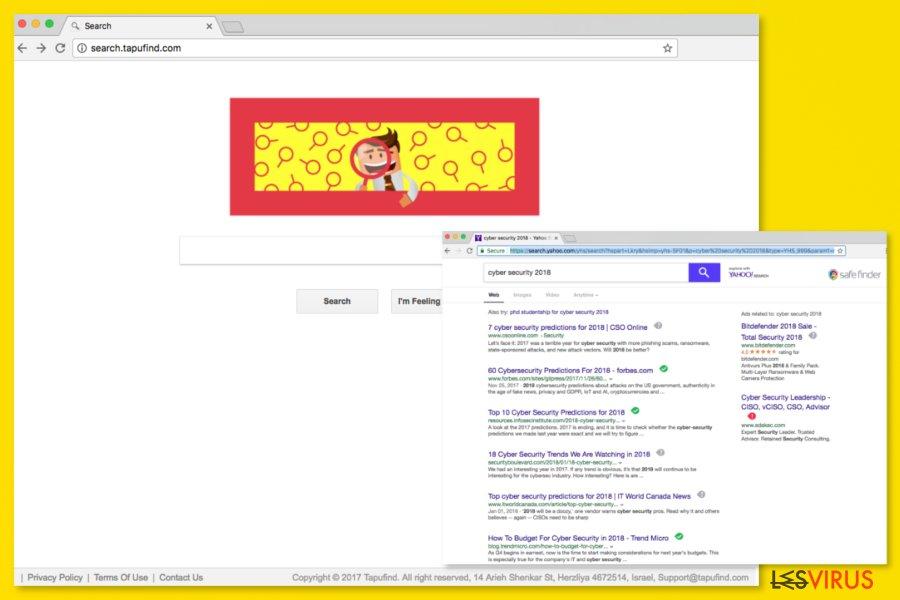 L'image du moteur de recherche Search.tapufind.com