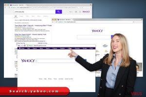 La réorientation search.yahoo.com
