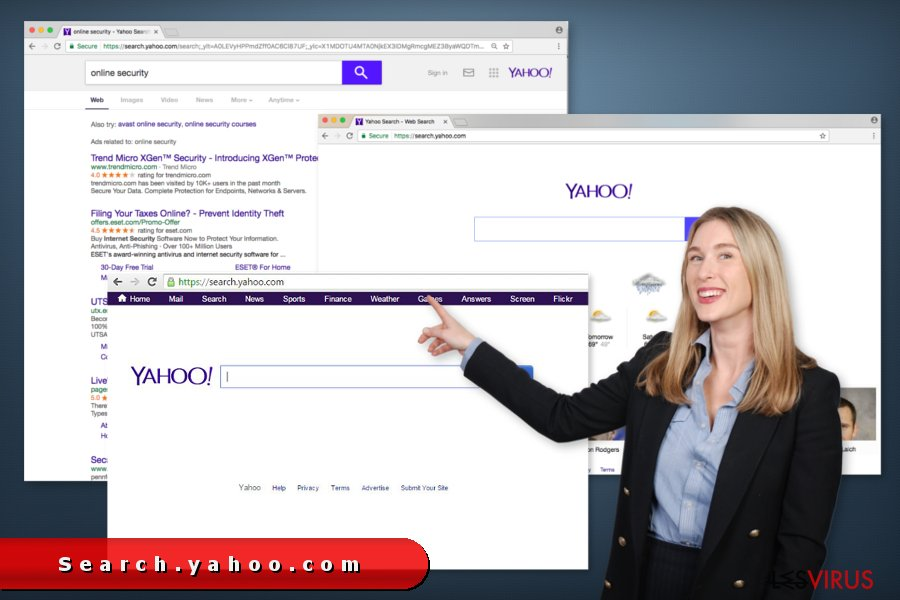 l'illustration de search yahoo