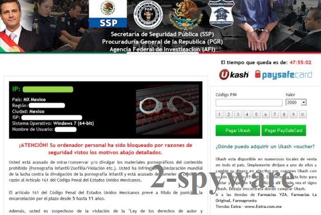 Secretaría de Seguridad Pública virus instantané