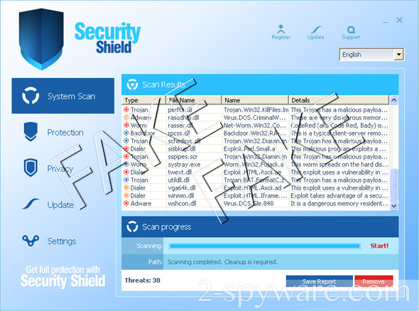 Security Shield instantané
