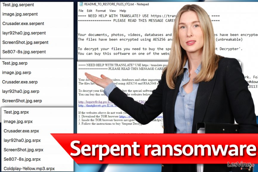 Le virus rançongiciel Serpent instantané
