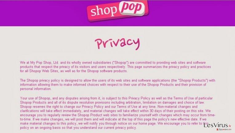 Shopop virus instantané