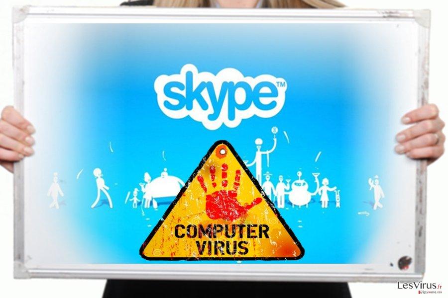 L'image du virus Skype