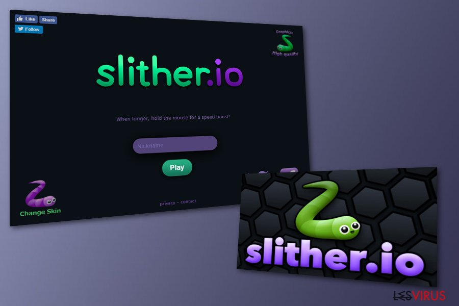 Logiciel publicitaire Slither.io