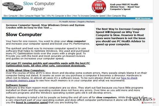 Slowcomputerrepairr.com virus instantané
