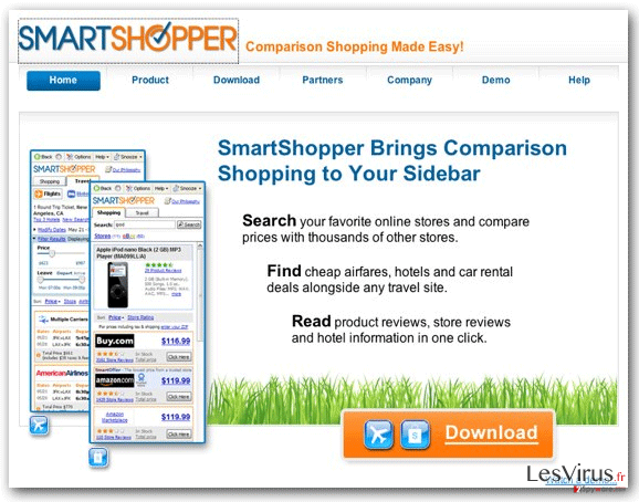 'Annonces de SmartShopper' virus instantané