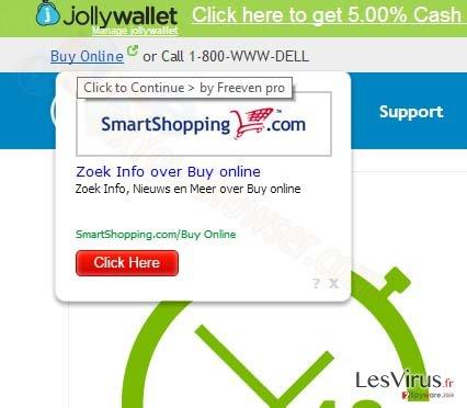 SmartShopping.com pop-up ads instantané