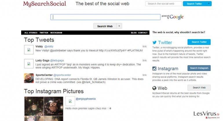Smartwebsearch.mysearchsocial.com instantané