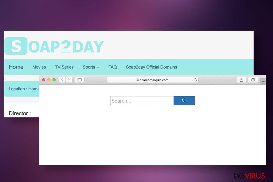 Soap2Day peut diffuser des pirates de navigateur