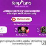 SongLyrics adware instantané
