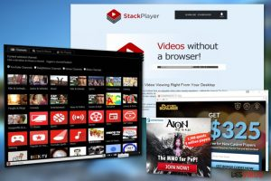 Le publiciel Stack Player