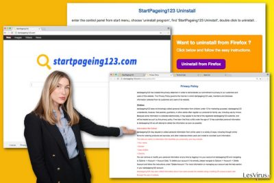 L'illustration du virus StartPageing123.com