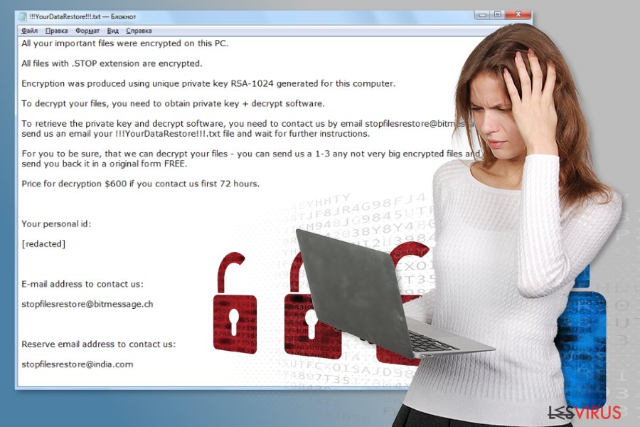 le virus ransomware STOP