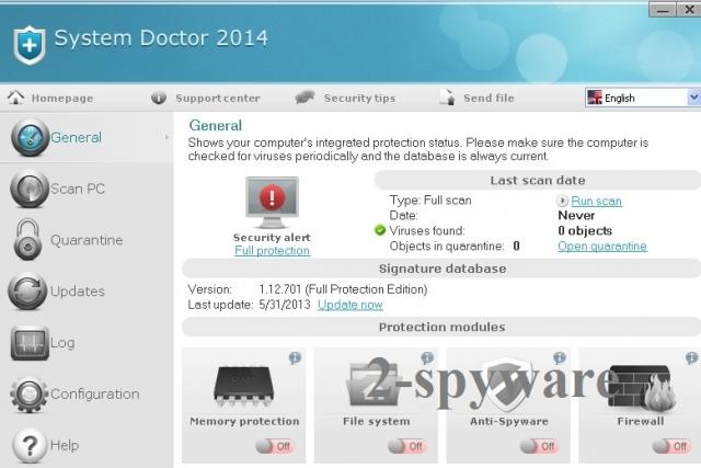 System Doctor 2014 instantané