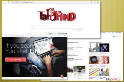 le faux moteur de recherche TapuFind