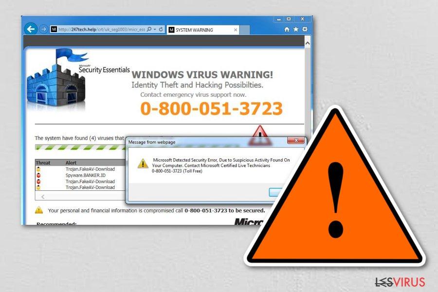 Le virus Tech Support Scam instantané