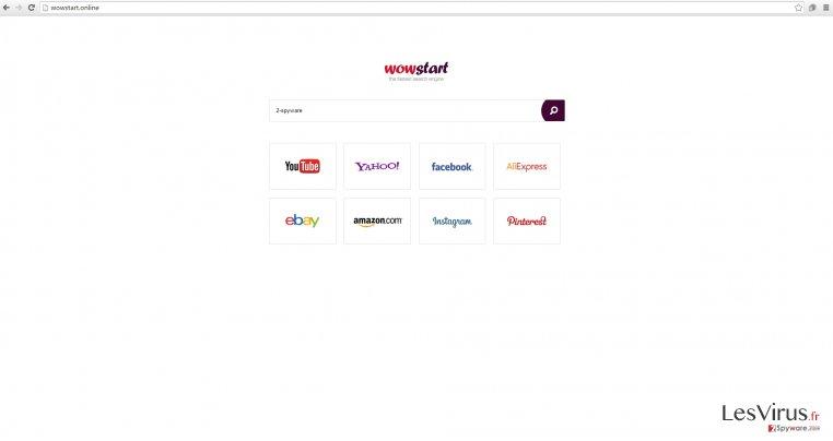 The example of Wowstart.online virus