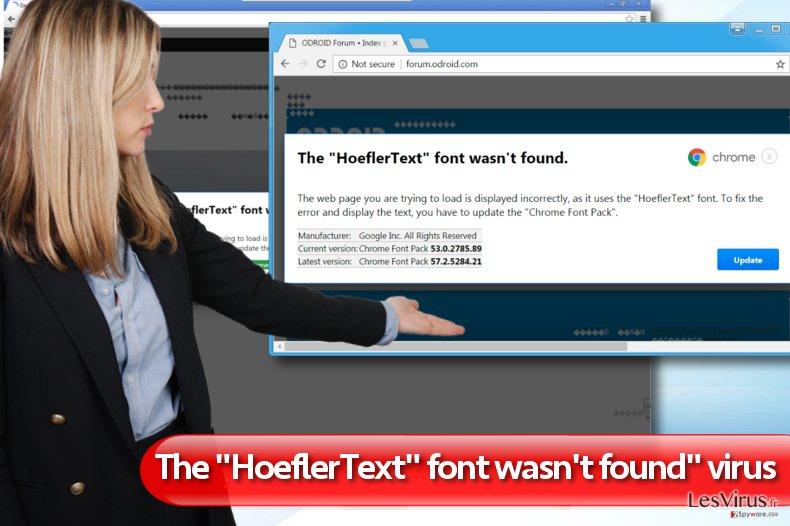 "La notification ""The HoeflerText font wasn't found"" instantané"