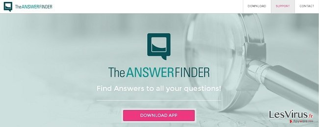 TheAnswerFinder virus instantané