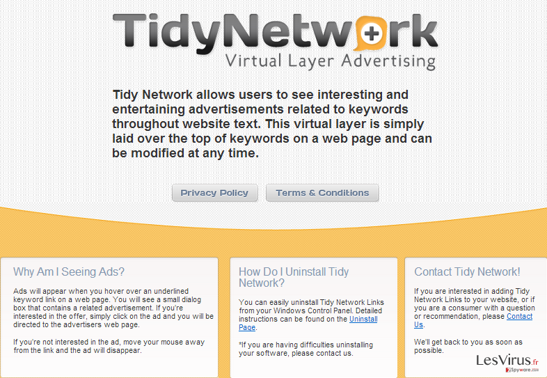 TidyNetwork.com instantané