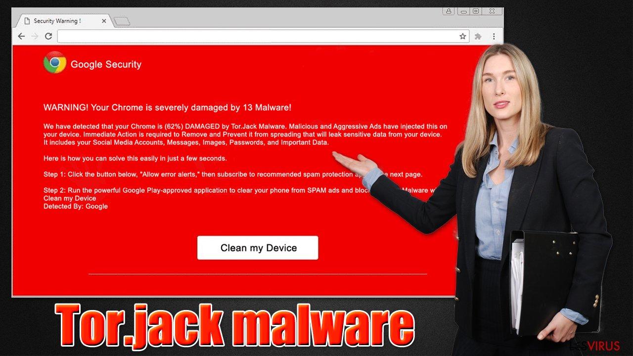 Le virus malware Tor.jack