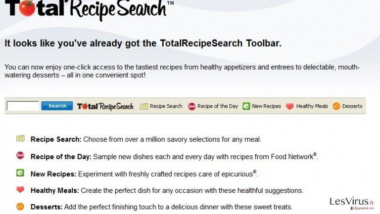 totalrecipesearch.com redirect instantané