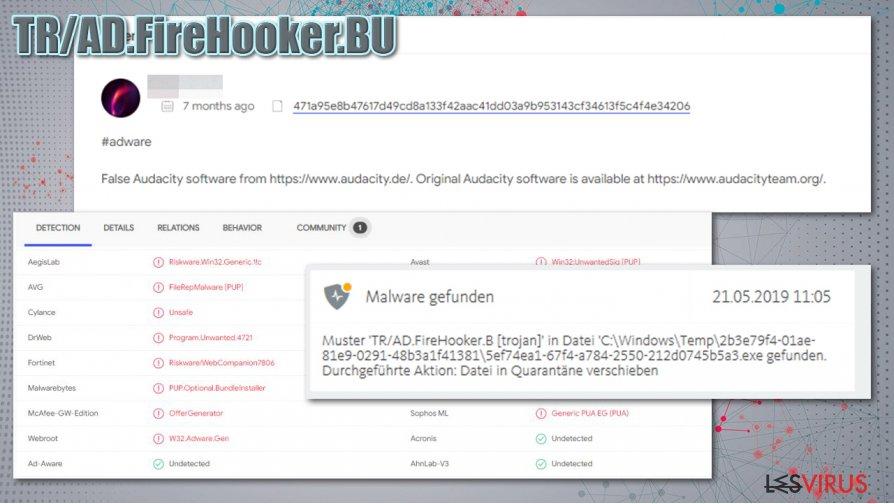 Distribution de TR/AD.FireHooker.BU