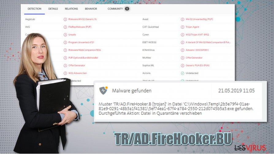 Le virus TR/AD.FireHooker.BU