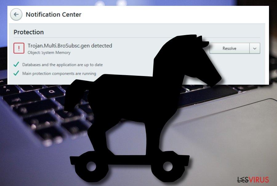 Le logiciel malveillant Trojan.Multi.Brosubsc.gen