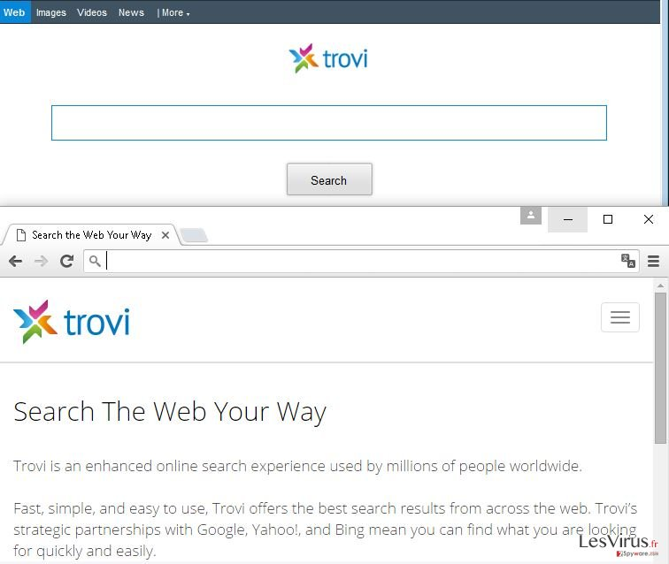 Trovi.com browser hijacker