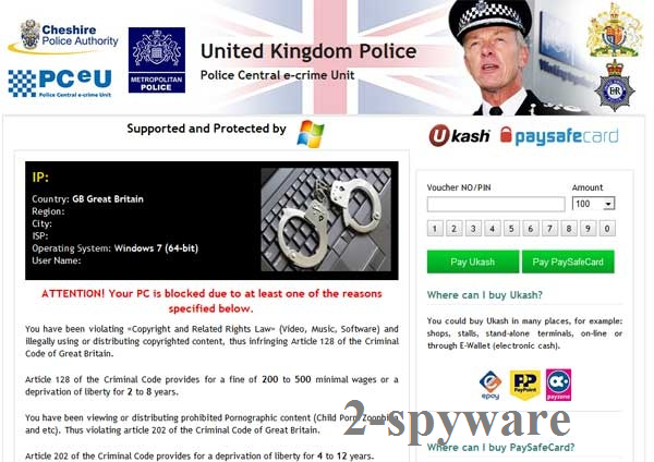 UK Police virus instantané