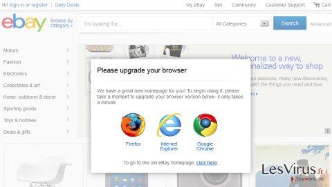 Update-browser.org pop-up virus instantané